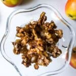 Cinnamon Buttered Apples & Salty Candied Walnuts with Vanilla Ice Cream