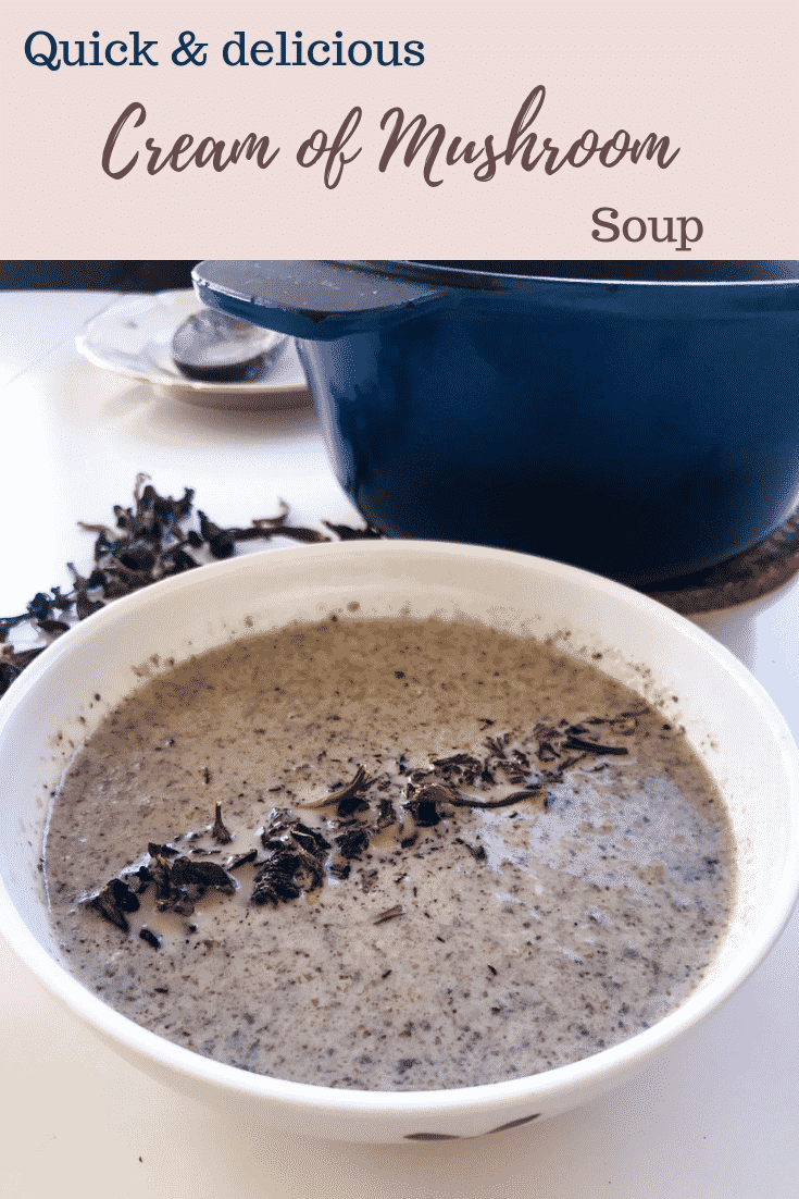 Cream of Mushroom Soup - Quick & easy to make, this Cream of Mushroom Soup may just be the epitome of fall: warm, cosy and full of mushrooms. And as an added bonus, it's keto friendly, vegetarian and gluten-free - and can easily be made both vegan & lactose-free. #alwaysusebutter #creamofmushroom #soup #keto #lchf #glutenfree #quick #easy #onepot #budget