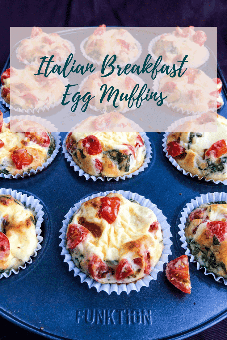 Healthy Vegetarian Italian Breakfast Egg Muffins are a delicious, quick and easy breakfast filled with your favorite Italian flavors such as melting parmesan cheese, ripe cherry tomatoes and fragrant basil. All while being healthy, vegetarian, keto and gluten-free. #alwaysusebutter #breakfastmuffins #eggmuffins #breakfasteggmuffins #quickbreakfast #breakfastideas #ketobreakfastideas #ketoideas #glutenfree #vegetarian